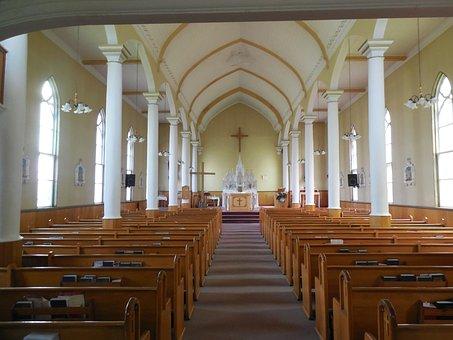 Church, Pews, Spirituality, Religion, Chapel