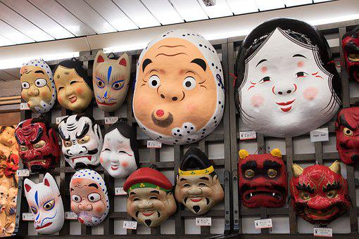 Mask, Japanese, Tokyo, Japan, Face, Tradition, Culture