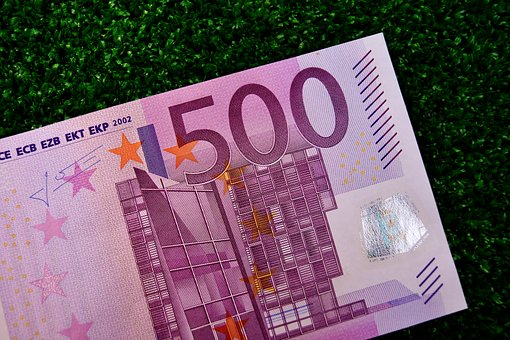 Euro, 500, Dollar Bill, Money, Currency, Paper Money