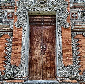 Asian Doorway, Door, Entrance, Architecture, Building