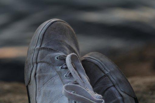 Shoe, Macro, Laces, Fashion, Footwear, White, Close
