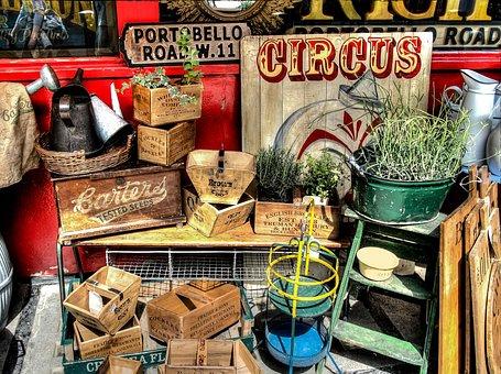 Portobello Road, London, Market, Vacation, Touristic