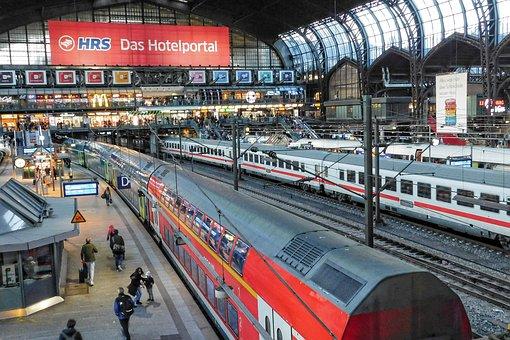Railway Station, Train, Passenger Train