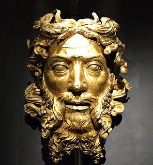 Head, Gold, Sculpture