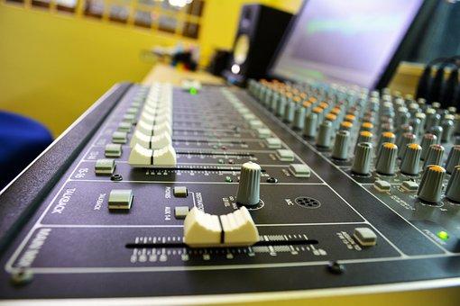 Studio, Mixer, Sound System, Record, Equipment