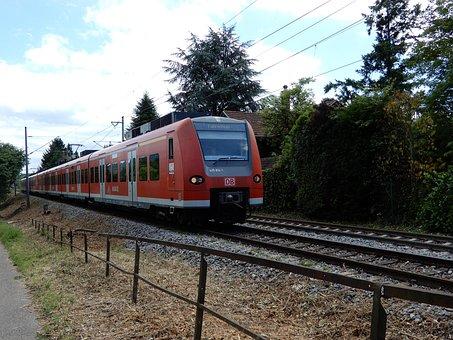 Train, Track, Green, Landscape