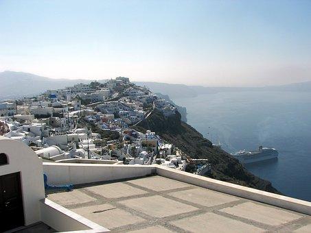 Santorini, Cyclades, Greece, Volcano Island, Hellas