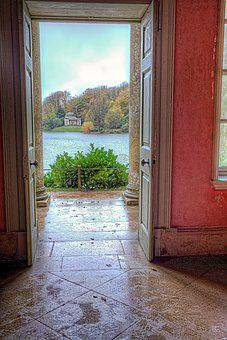 Stourhead, Gardens, Wiltshire, Uk, Landscape, Water