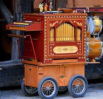 Organ, Mobile, Organ Sounds, Melody, Nostalgia, Wheels