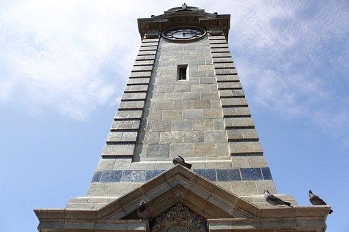 Tower, Clock, Antofagasta, Chile, City, Desert, Arid