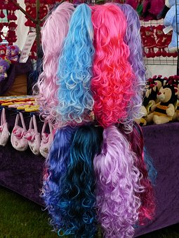 Wigs, Colors, Market, Spring