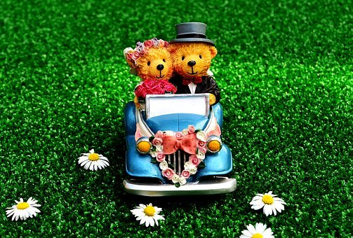 Bride And Groom, Wedding, Auto, Marry, Decoration, Love