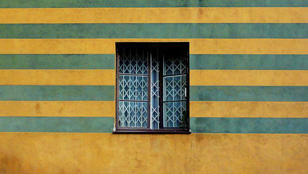 Window, Wall, Façades, Colored Townhouses, Glass