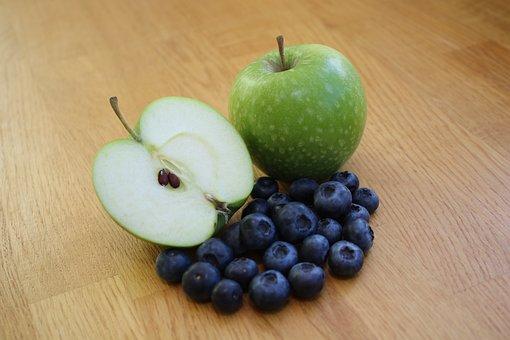 Apple, Blueberry, Health, Fresh, Food, Fruit, Sweet