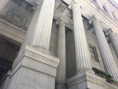 Columns, Law, Legal, Architecture, Building, Facade