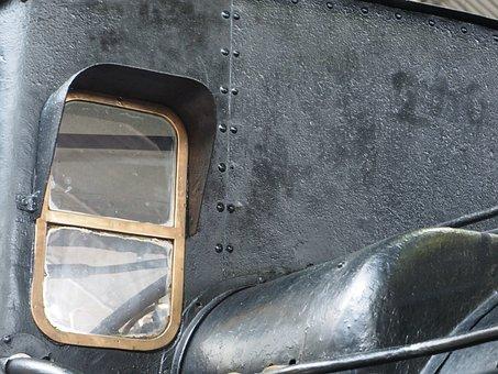 Train, Railway, Locomotive, Iron, Window, Little Window