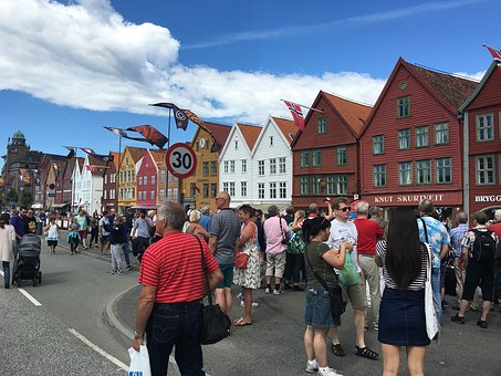 Bergen, Market, Fish, Norway