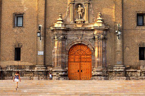 Door, Church, Mother, Daughter, Esclaeras, Lock, Old