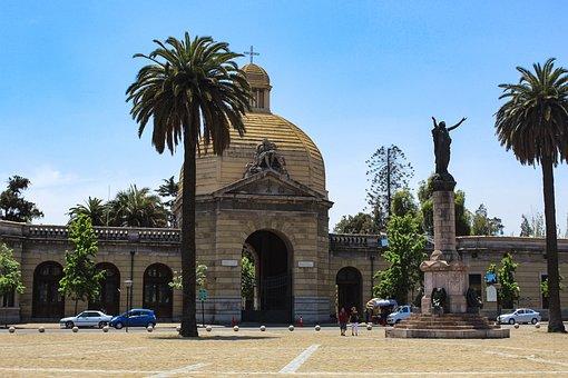 Cemetery, Palm Tree, Statue, Symbol, Figure, Plaza
