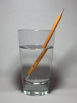 Pencil, Bent Pencil, Pencil In Water, Refract