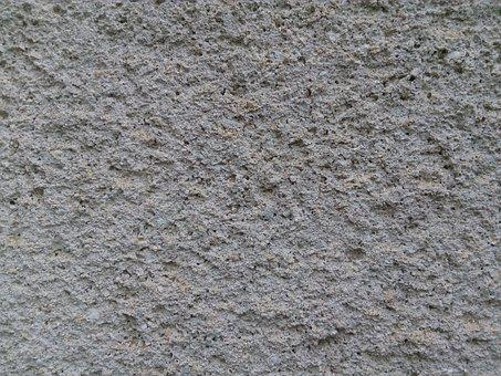 Wall, Covered, Grey, Plaster, Large, Plan, Texture