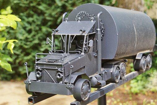 Mailbox, Letter Boxes, Post, Blacksmithing