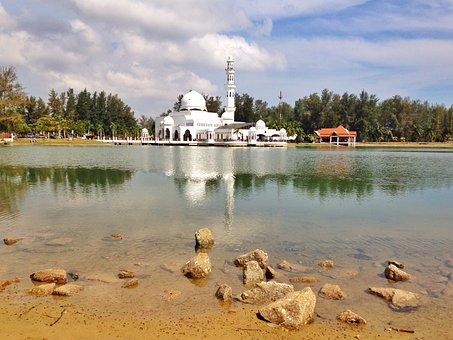 Ramadan, Mosque, Water, Reflection, Floating, Pray