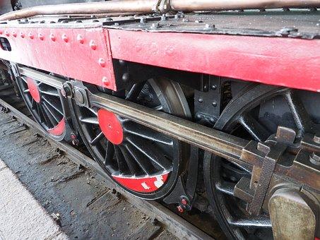 Wheel, Railway, Train, Steel, Rail