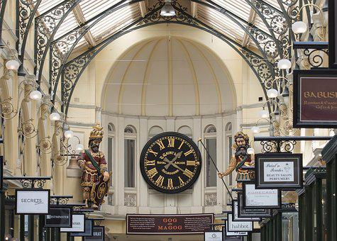 Royal Arcade, Clock, Clock Face, Architecture, City