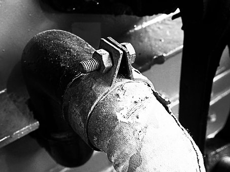 Black And White, Screw, Tube, Fabric, Coconut, Metal