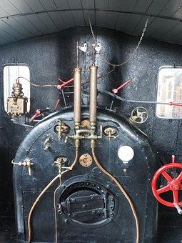 Train, Railway, Steam, Locomotive, Machinery