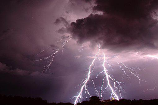 Lightning, Clouds, Storm, Weather