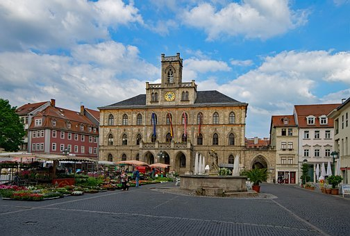 Town Hall, Weimar, Thuringia Germany, Germany, Old Town