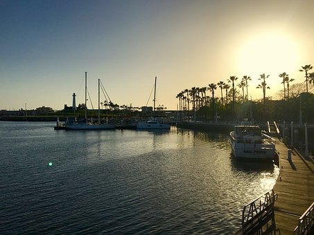 Long Beach, California, Usa, Travel, Harbor, Bay, Water