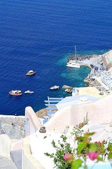 Greece, Santorini, Greek, Travel, Island, Europe, Sea