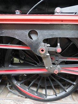 Wheel, Train, Railway, Steel, Old
