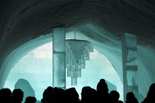 Ice, Snow, The Ice Hotel, Building, Architecture