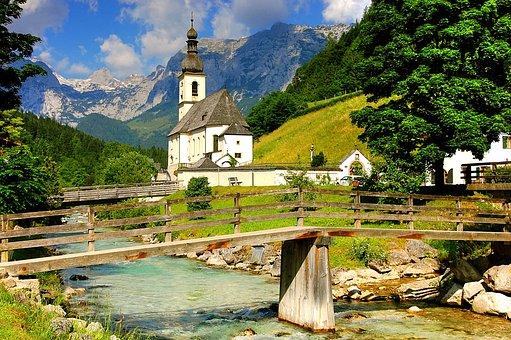 Church, Ramsau, Christen, Upper Bavaria