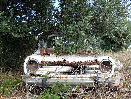 Car, Wreck, Rust, Car Wreck, Old, Corroded