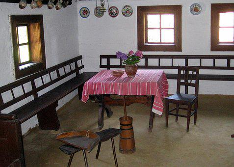 Room, Past, Museum, Village, Device, Kitchen