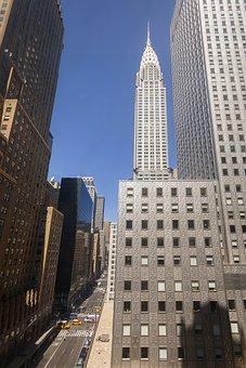 Building, Chrysler, New, York, Art, Deco, Manhattan