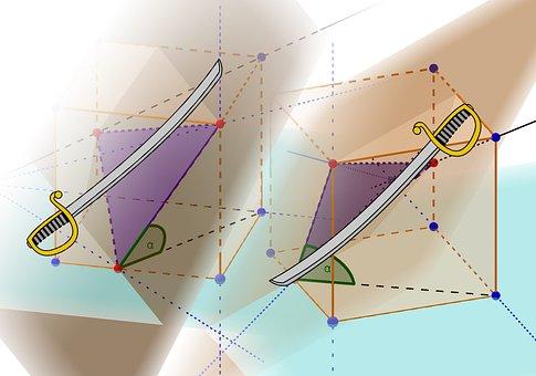 Mathematic, Math, Intersection, Geometry, Cube, Angle