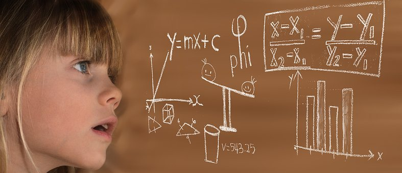 Learn, Mathematics, Child, Girl, Formula, Physics