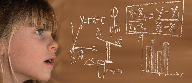 Learn, Mathematics, Child, Girl, Formula, Physics
