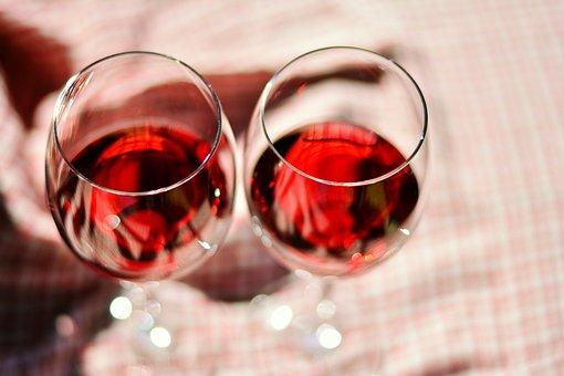 Wine Glasses, Glass, Red Wine, Wine Glass, Mood, Ground