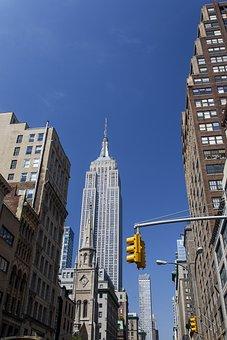 New, York, Street, Nyc, City, Building, Manhattan
