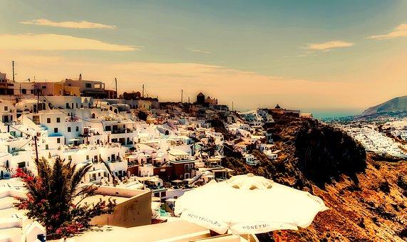 Santorini, Greece, City, Town, Attractions, Tourism