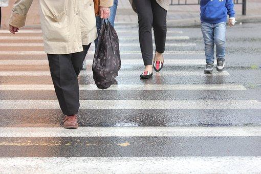 Crosswalk, Zebra, Pedestrian, Street, City