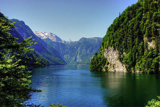 Königssee, Alpine, Berchtesgaden National Park, View