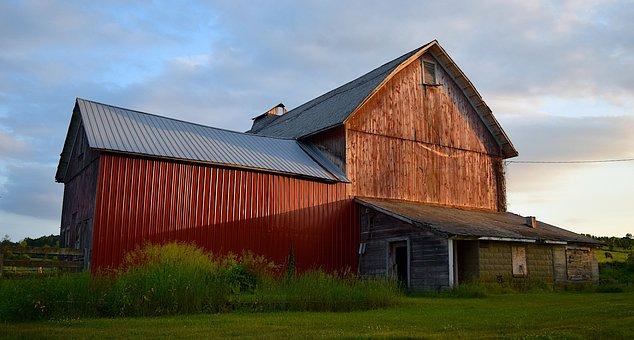 Barn, Sunset, Rural, Landscape, Farm, Agriculture